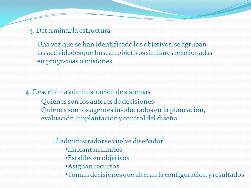 3. Determinar la estructura