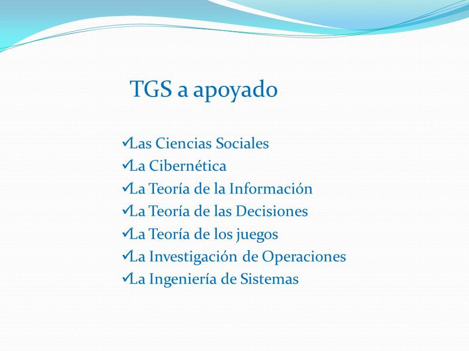 TGS a apoyado Las Ciencias Sociales La Cibernética