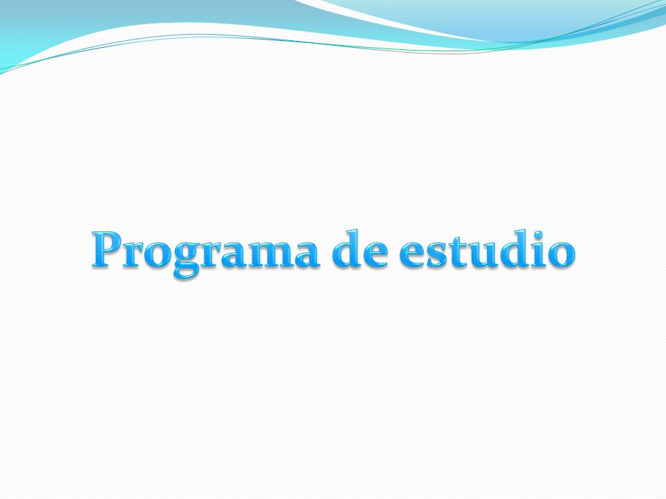 Programa de estudio