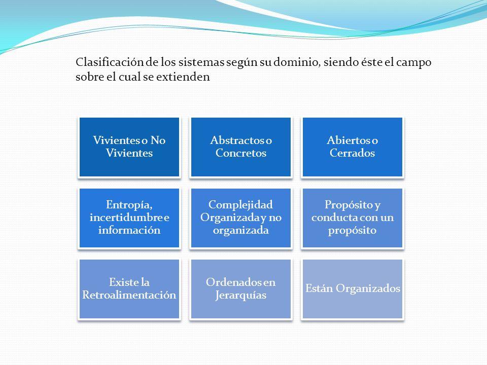 Clasificación de los sistemas según su dominio, siendo éste el campo sobre el cual se extienden