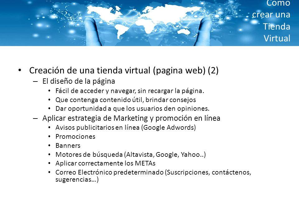 Como crear una Tienda Virtual