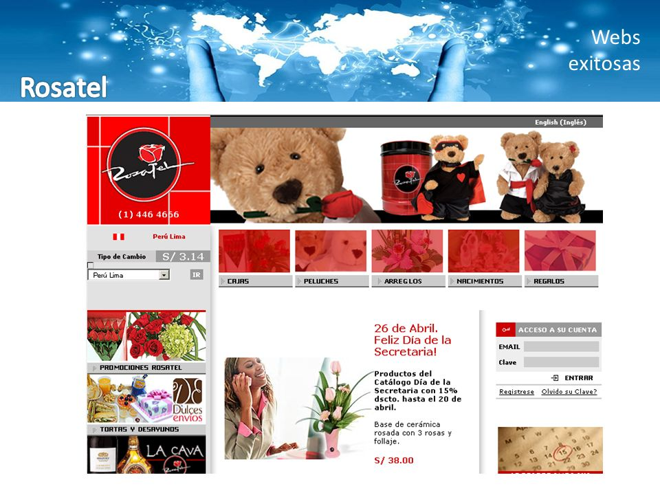Webs exitosas Rosatel