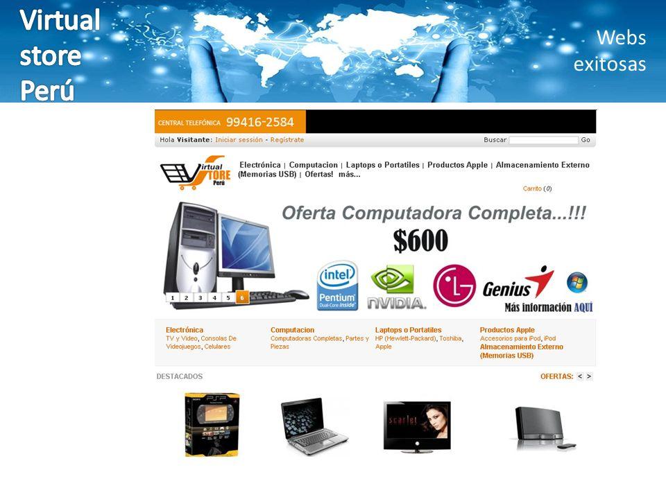 Virtual store Perú Webs exitosas