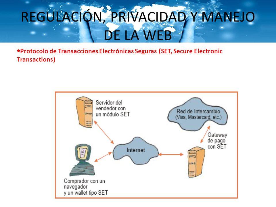 REGULACIÓN, PRIVACIDAD Y MANEJO DE LA WEB