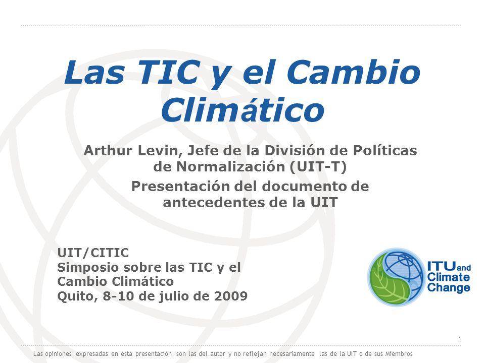 Las TIC y el Cambio Climático