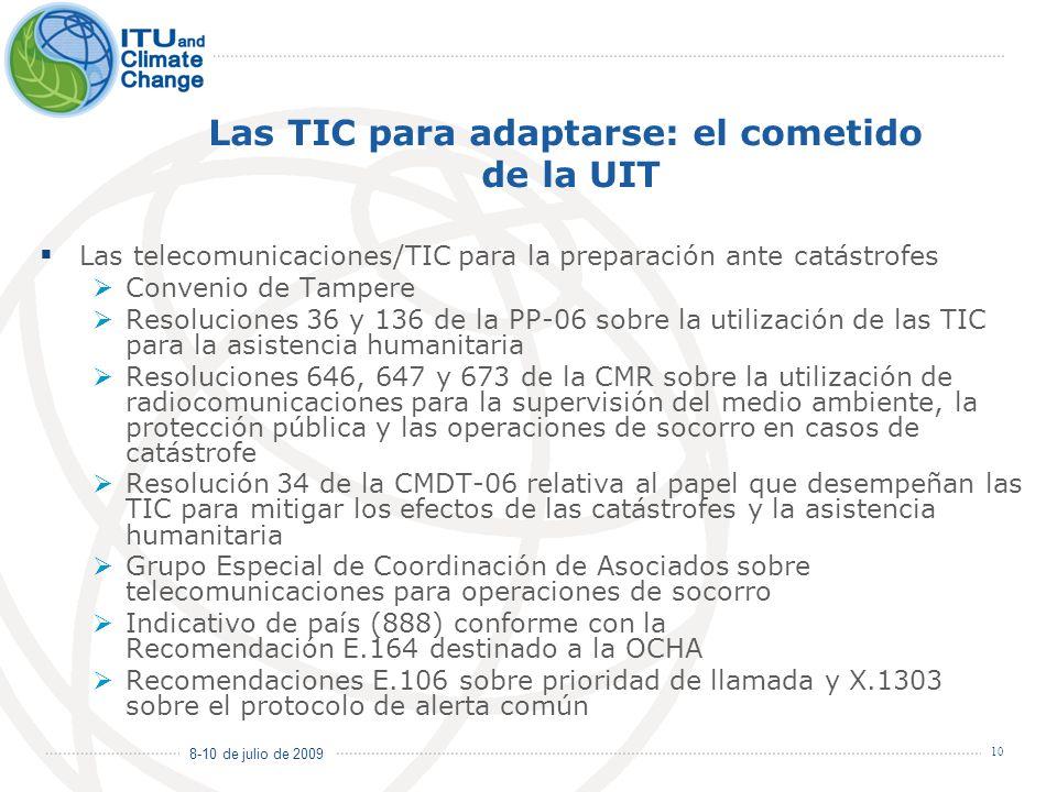 Las TIC para adaptarse: el cometido de la UIT