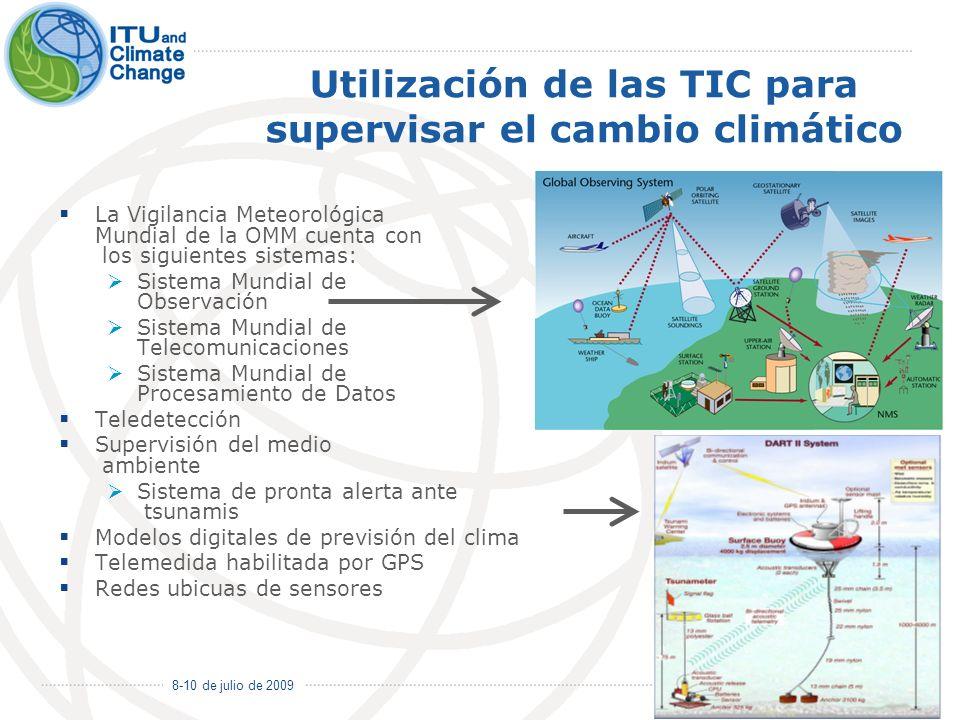 Utilización de las TIC para supervisar el cambio climático