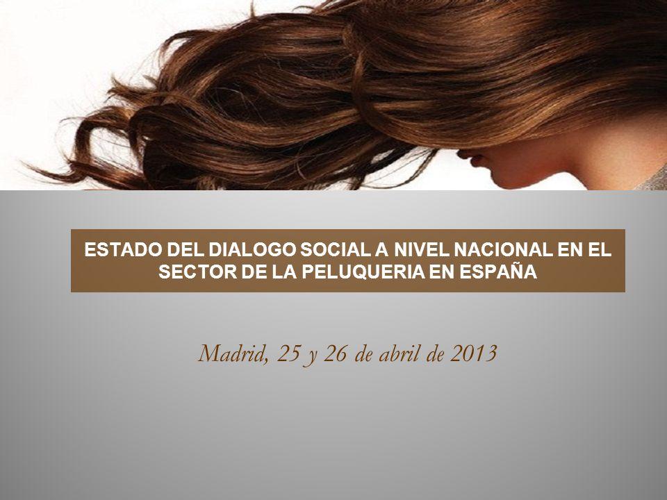 LA REFORMA LABORAL 2012 ESTADO DEL DIALOGO SOCIAL A NIVEL NACIONAL EN EL SECTOR DE LA PELUQUERIA EN ESPAÑA.
