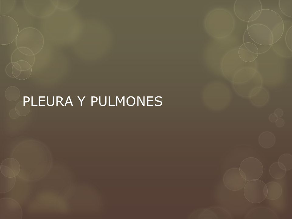 PLEURA Y PULMONES