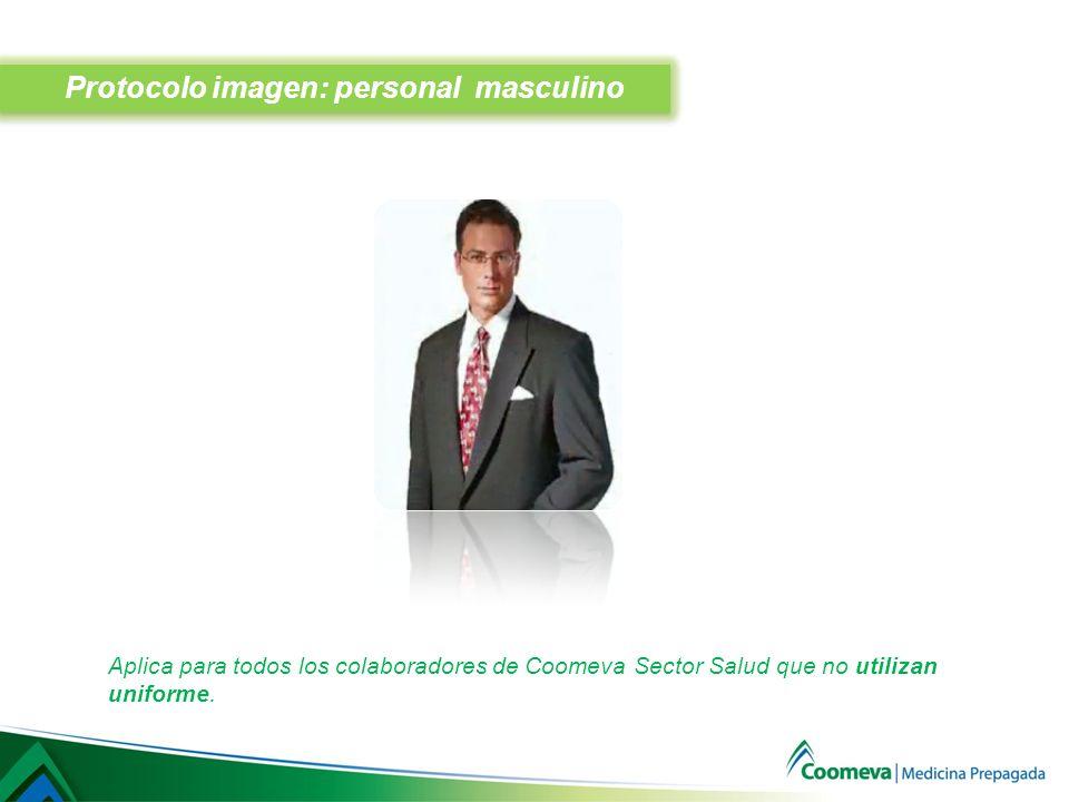 Protocolo imagen: personal masculino