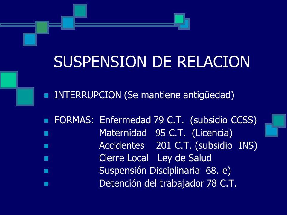 SUSPENSION DE RELACION