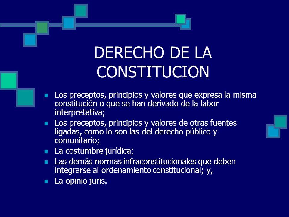 DERECHO DE LA CONSTITUCION