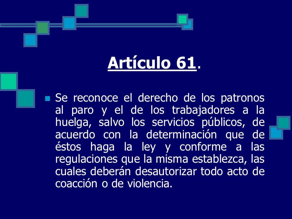 Artículo 61.
