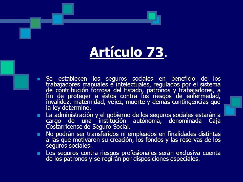 Artículo 73.
