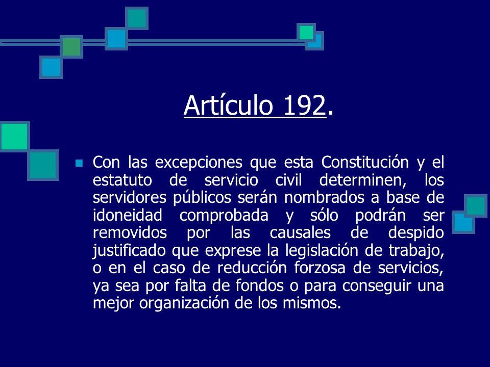 Artículo 192.