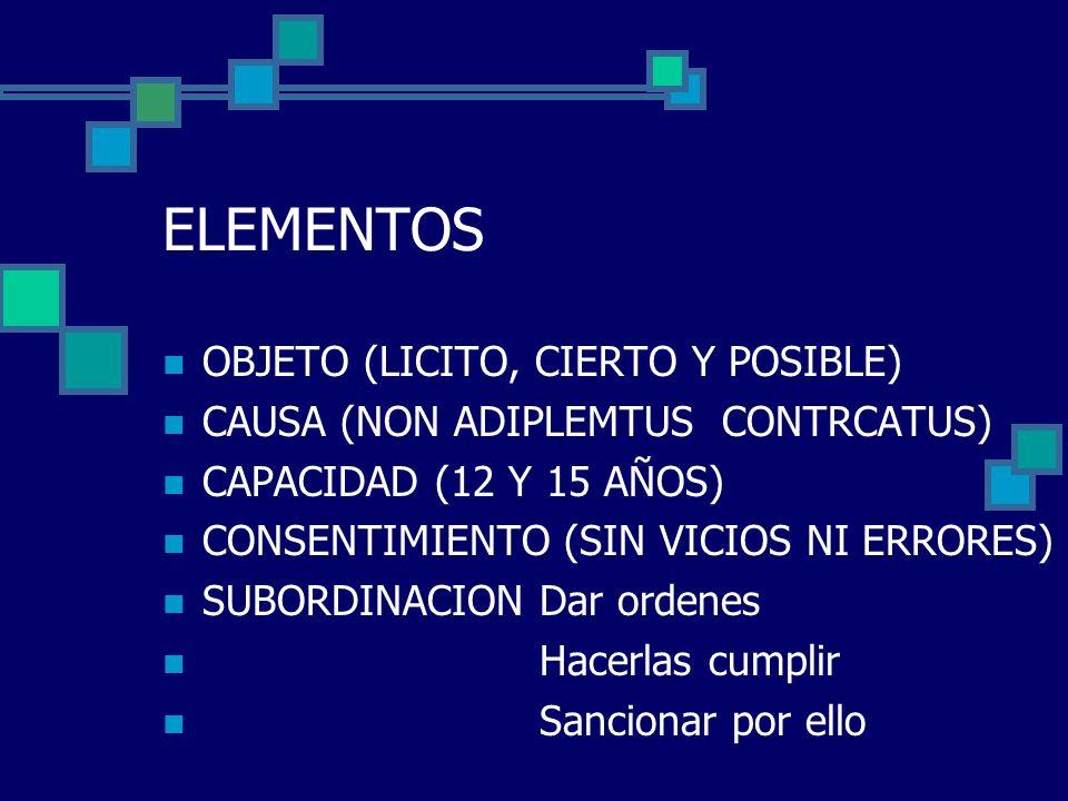 ELEMENTOS OBJETO (LICITO, CIERTO Y POSIBLE)