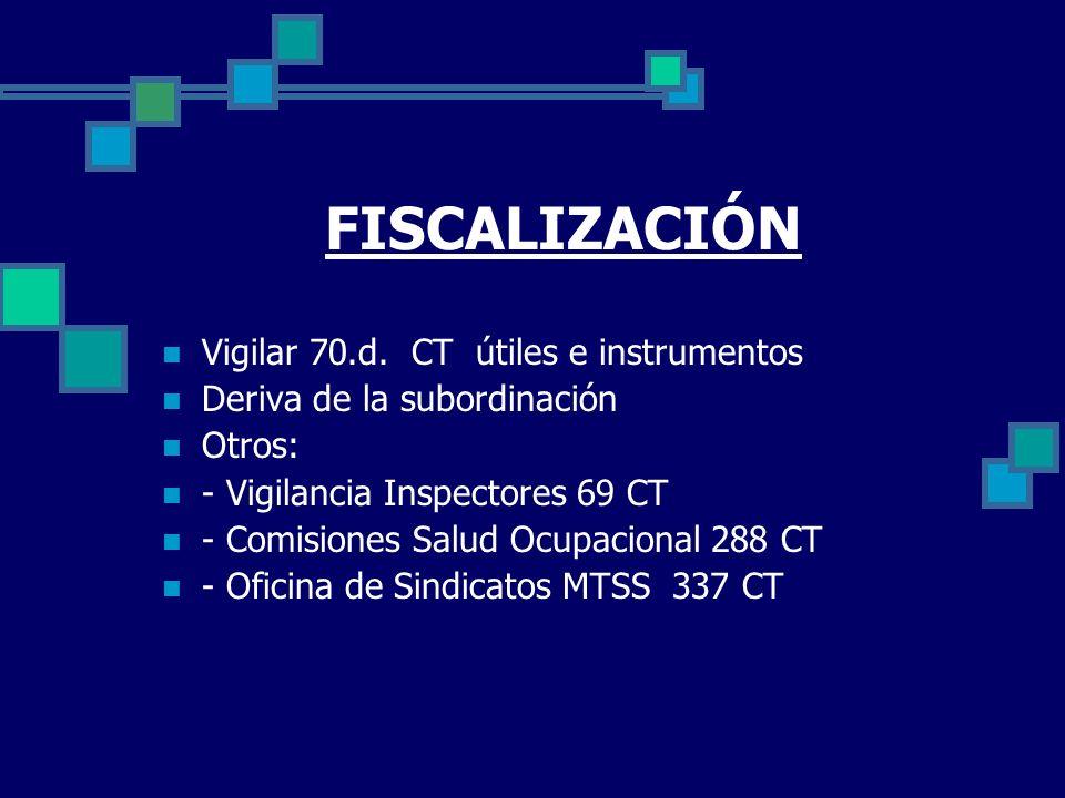 FISCALIZACIÓN Vigilar 70.d. CT útiles e instrumentos