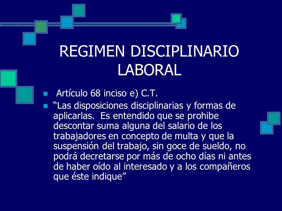 REGIMEN DISCIPLINARIO LABORAL