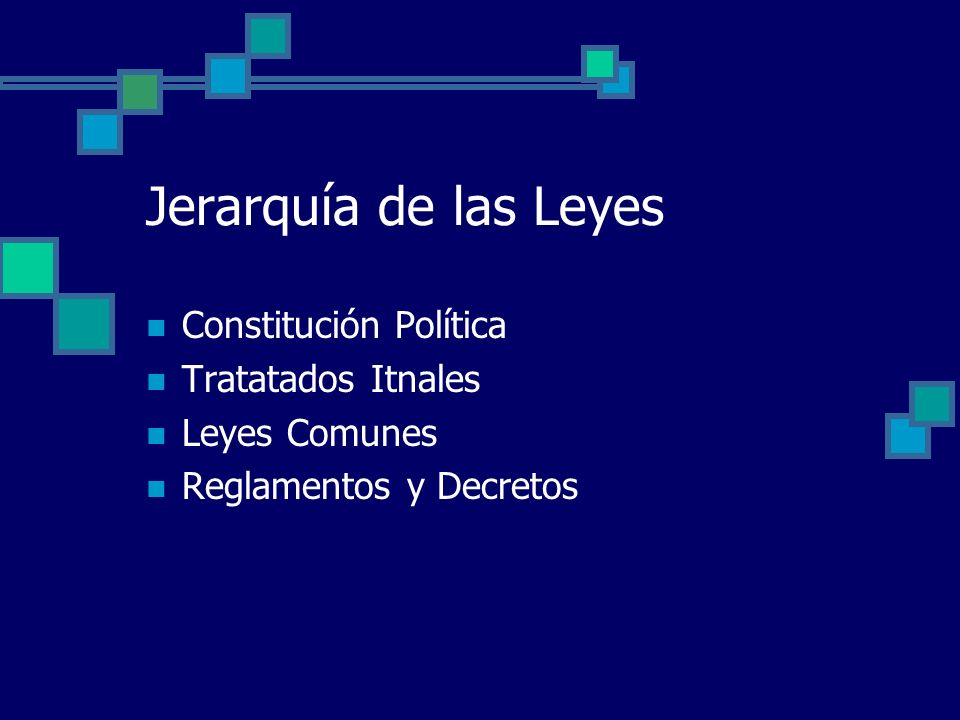 Jerarquía de las Leyes Constitución Política Tratatados Itnales