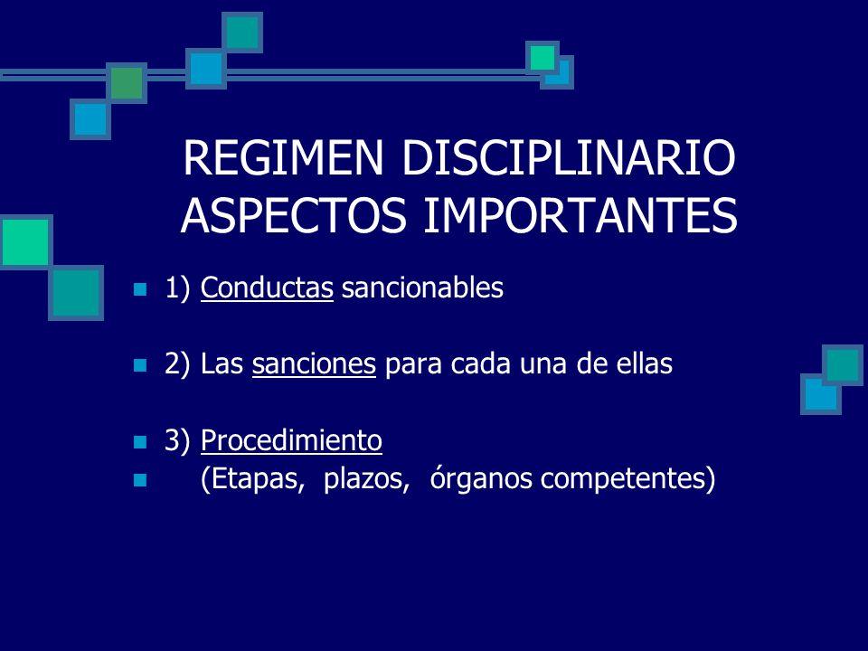 REGIMEN DISCIPLINARIO ASPECTOS IMPORTANTES