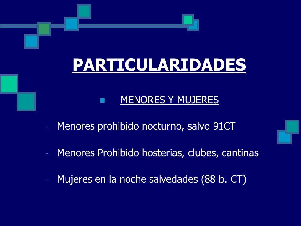 PARTICULARIDADES MENORES Y MUJERES
