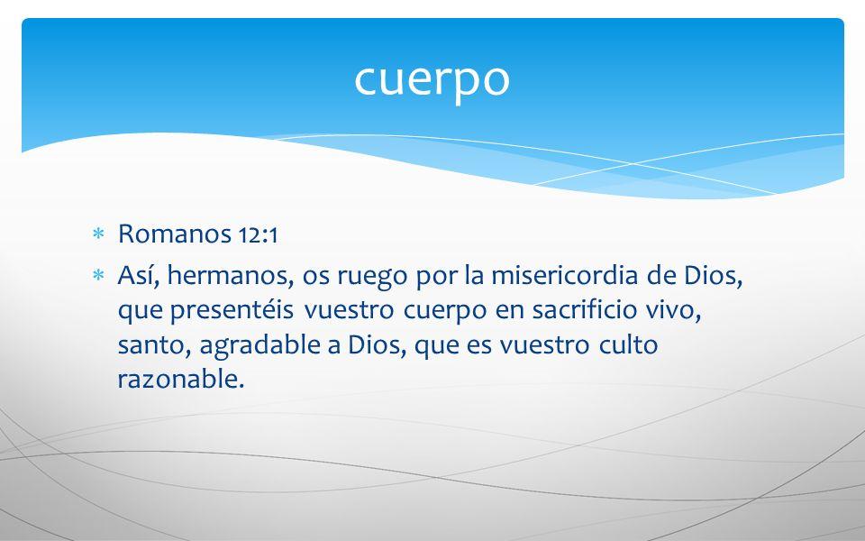 cuerpo Romanos 12:1.