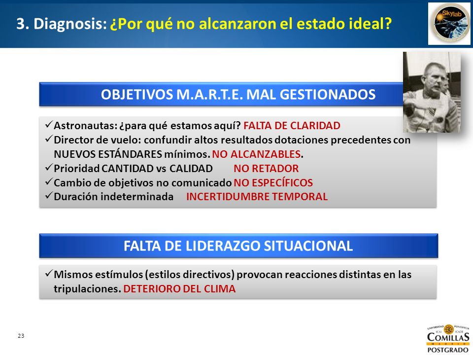 3. Diagnosis: ¿Por qué no alcanzaron el estado ideal