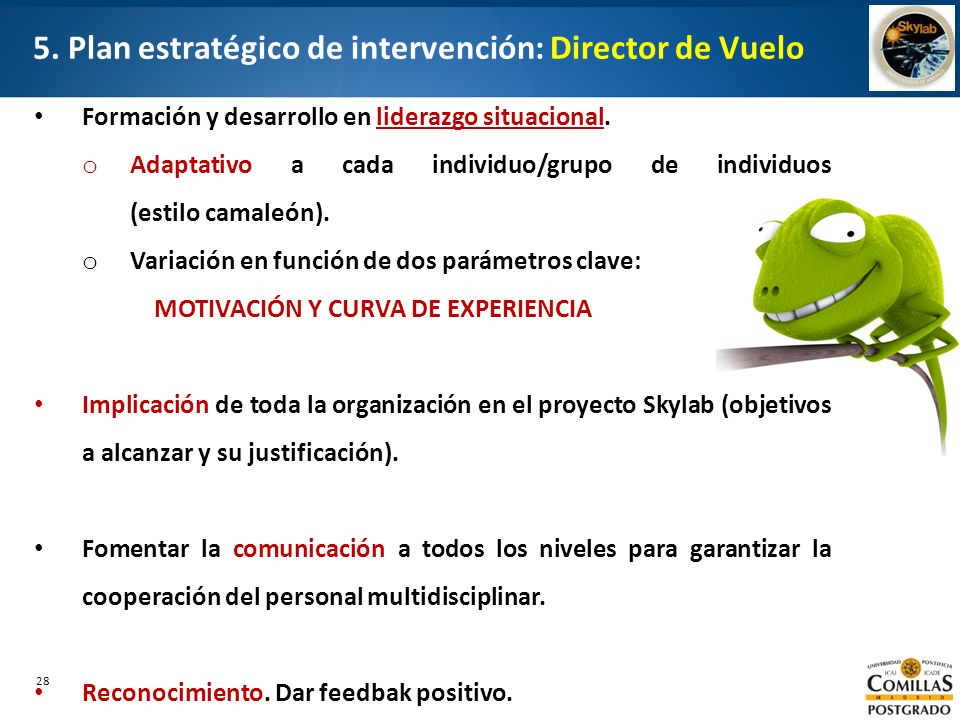 5. Plan estratégico de intervención: Director de Vuelo