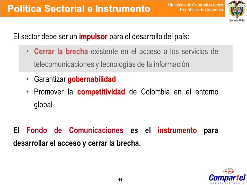 Política Sectorial e Instrumento