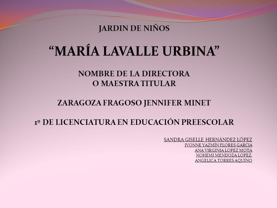 MARÍA LAVALLE URBINA