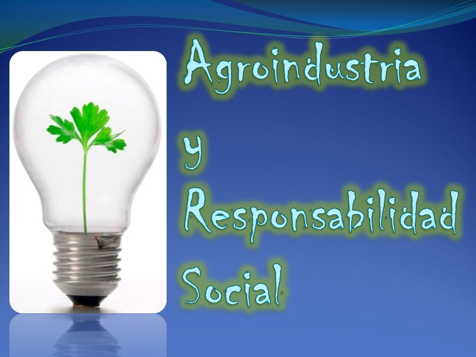 Agroindustria y Responsabilidad Social