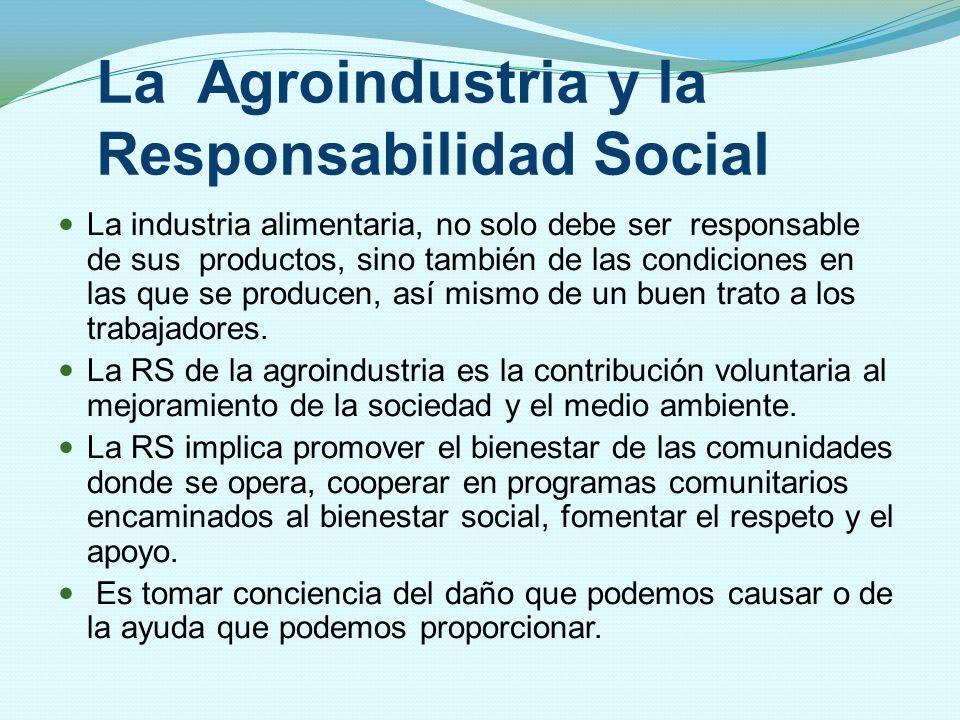 La Agroindustria y la Responsabilidad Social