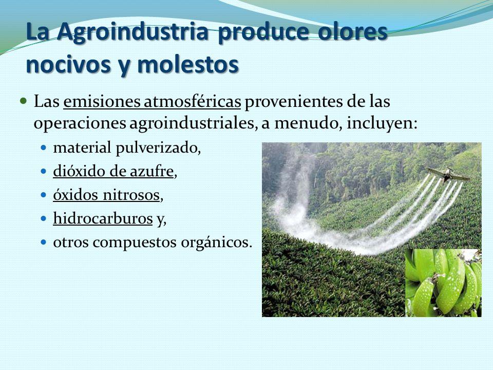 La Agroindustria produce olores nocivos y molestos