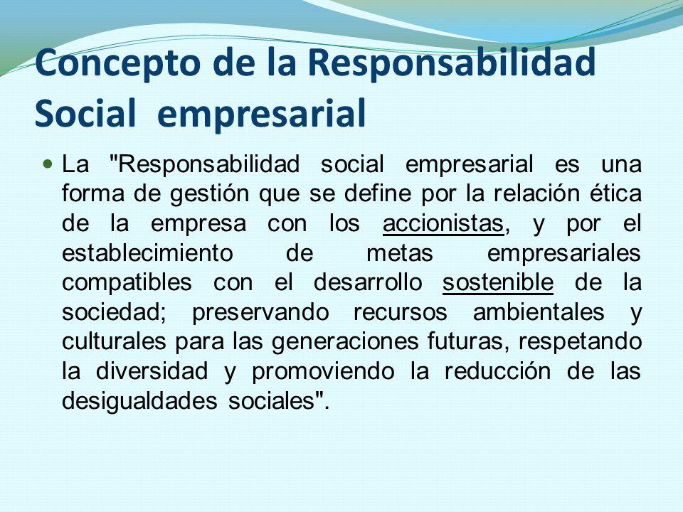 Concepto de la Responsabilidad Social empresarial