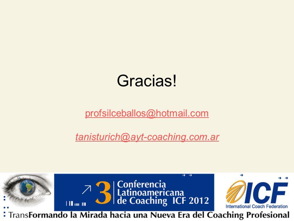 Gracias! profsilceballos@hotmail.com tanisturich@ayt-coaching.com.ar