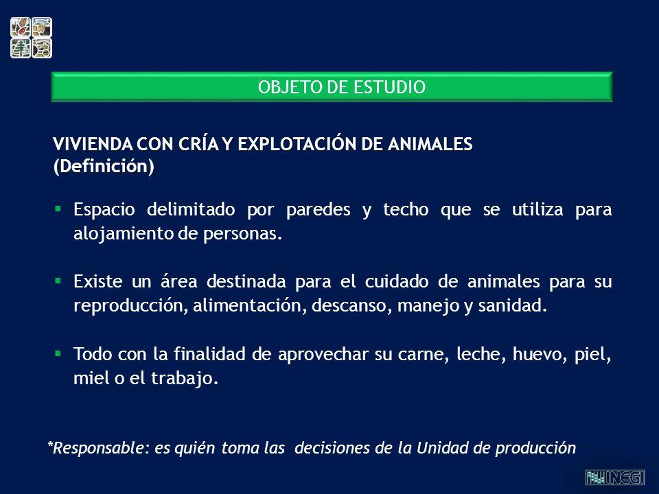 VIVIENDA CON CRÍA Y EXPLOTACIÓN DE ANIMALES (Definición)