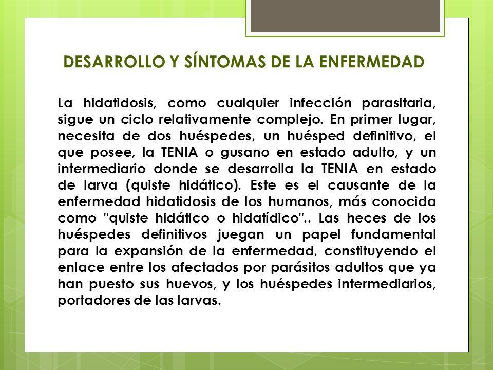 DESARROLLO Y SÍNTOMAS DE LA ENFERMEDAD