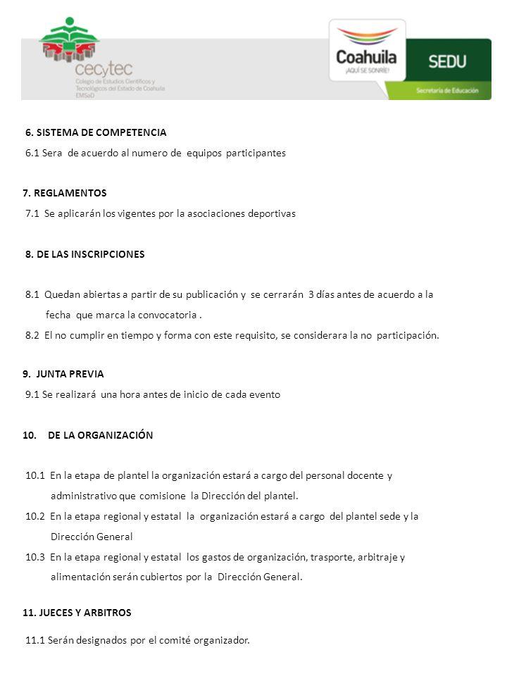6. SISTEMA DE COMPETENCIA