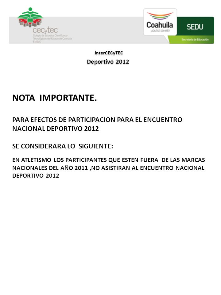 InterCECyTEC NOTA IMPORTANTE.