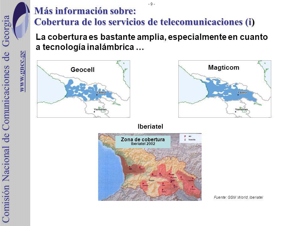 Comisión Nacional de Comunicaciones de Georgia Más información sobre: