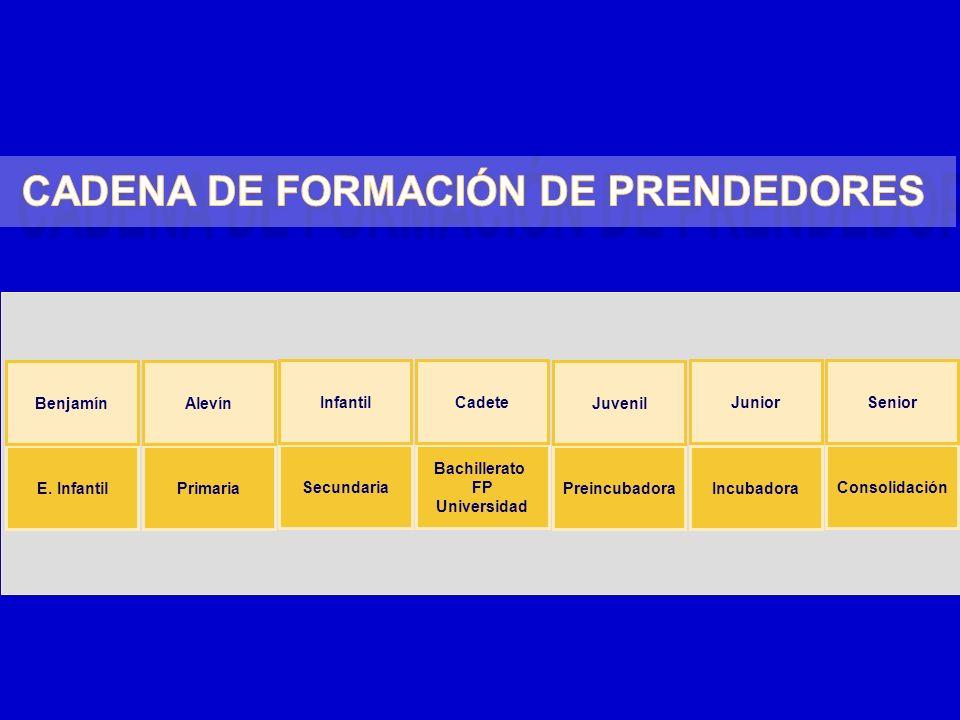 CADENA DE FORMACIÓN DE PRENDEDORES CADENA DE FORMACIÓN DE PRENDEDORES