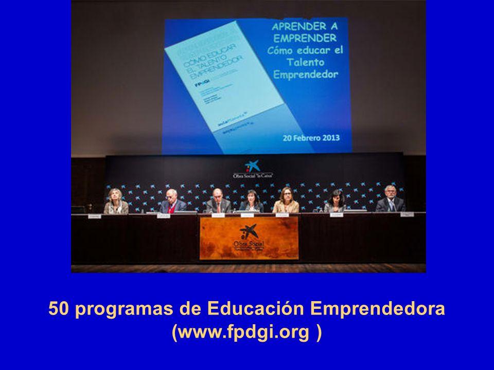 50 programas de Educación Emprendedora