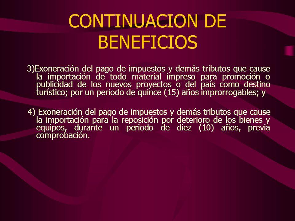 CONTINUACION DE BENEFICIOS