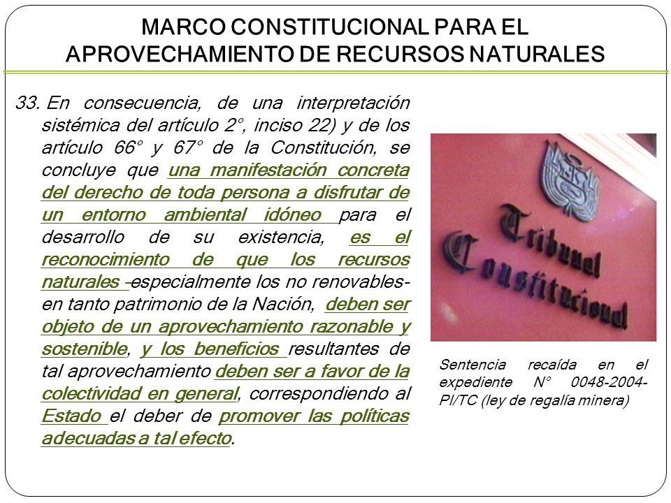 MARCO CONSTITUCIONAL PARA EL APROVECHAMIENTO DE RECURSOS NATURALES