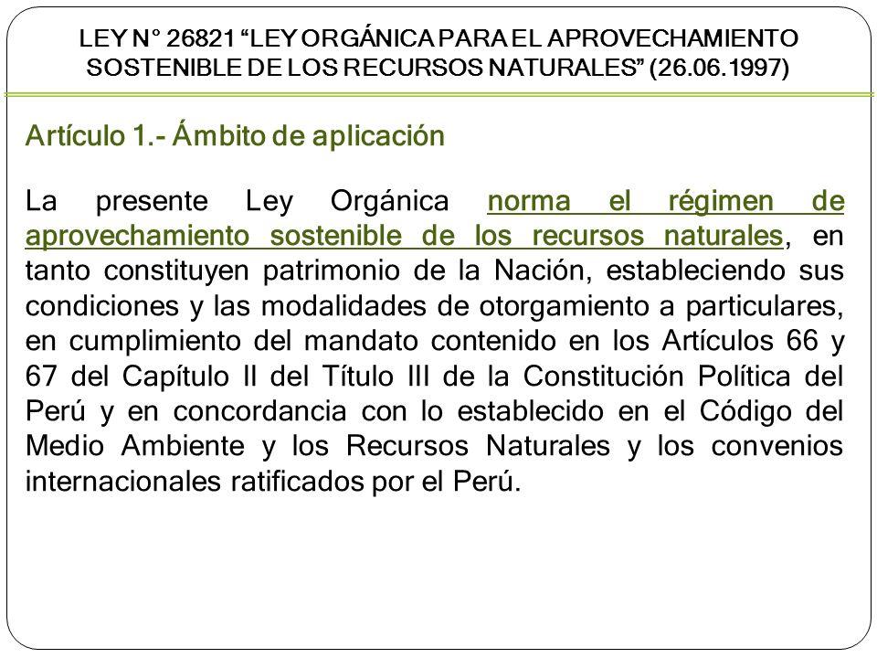 Artículo 1.- Ámbito de aplicación