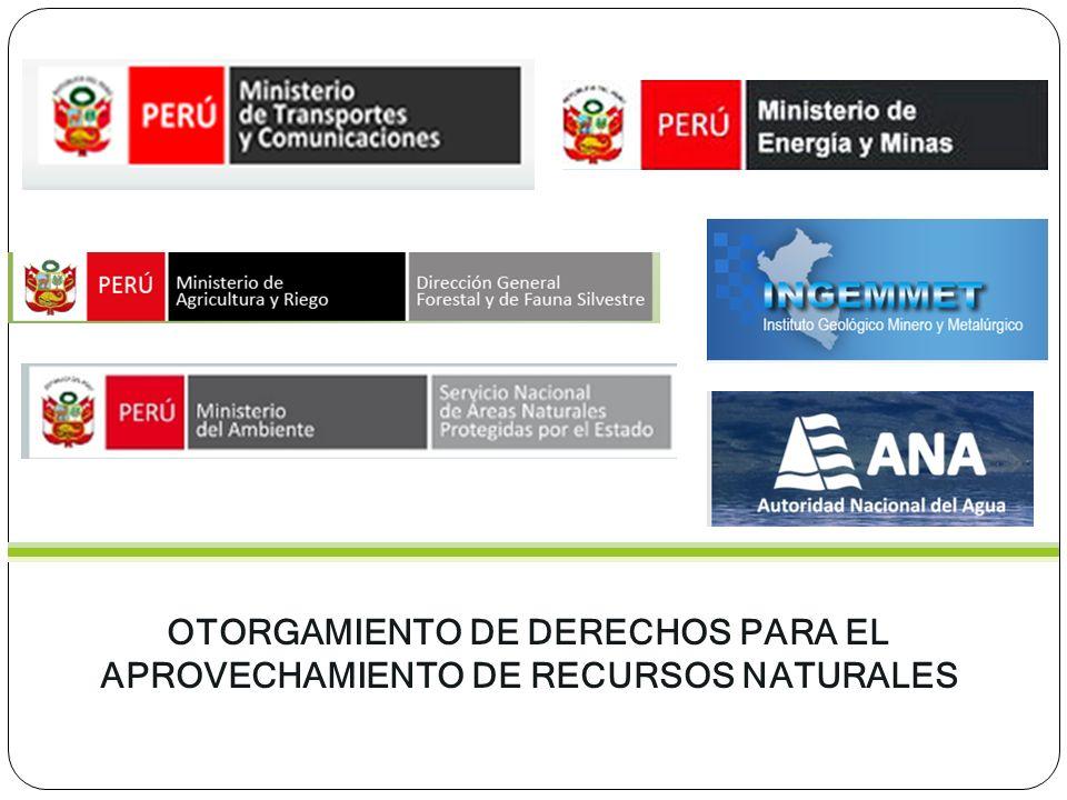 OTORGAMIENTO DE DERECHOS PARA EL APROVECHAMIENTO DE RECURSOS NATURALES