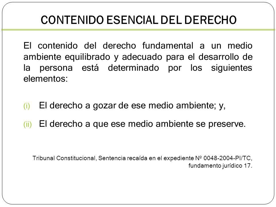 CONTENIDO ESENCIAL DEL DERECHO
