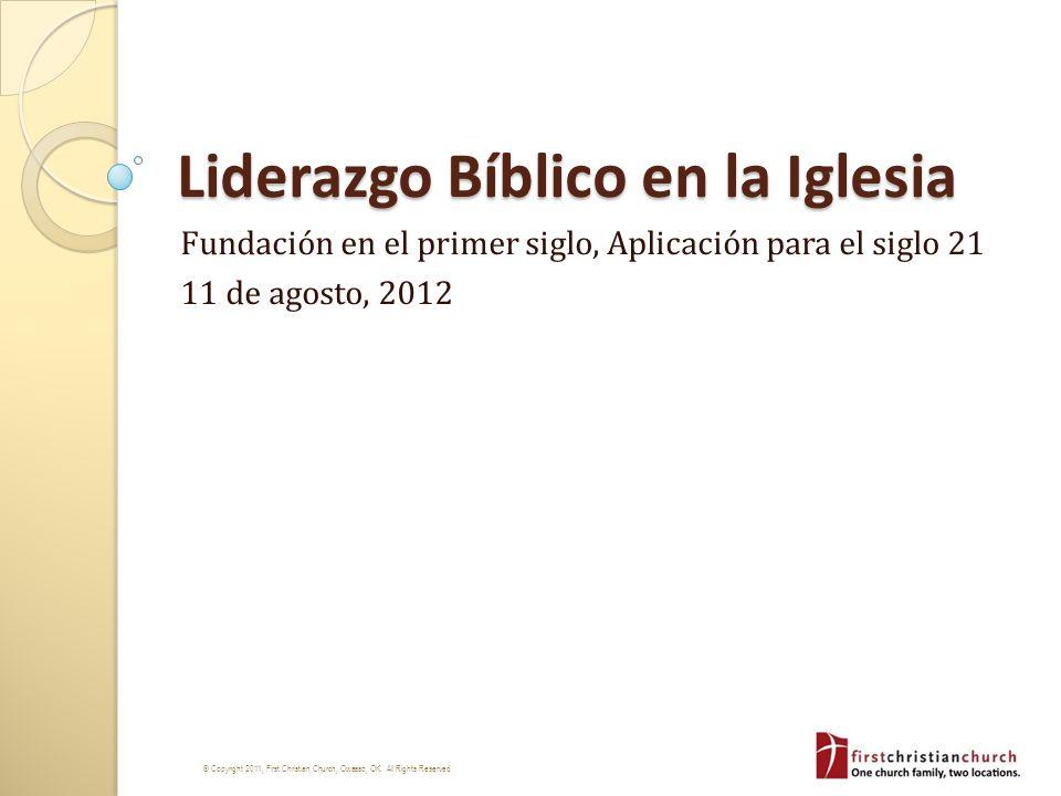 Liderazgo Bíblico en la Iglesia