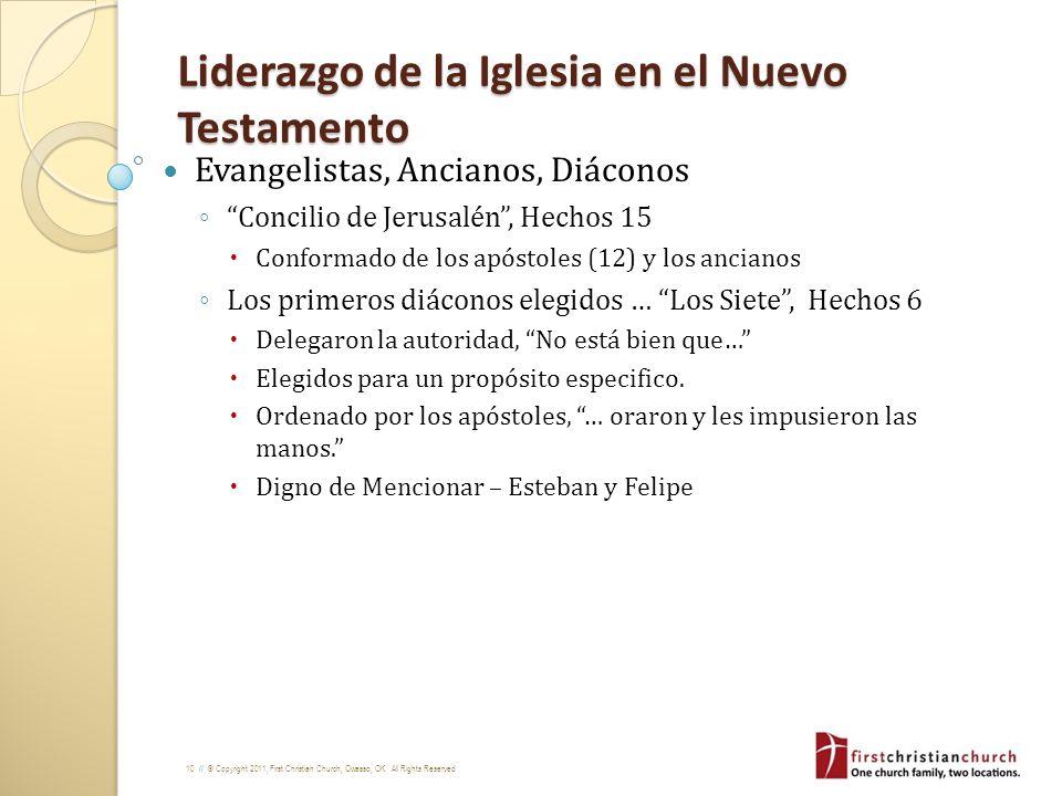 Liderazgo de la Iglesia en el Nuevo Testamento