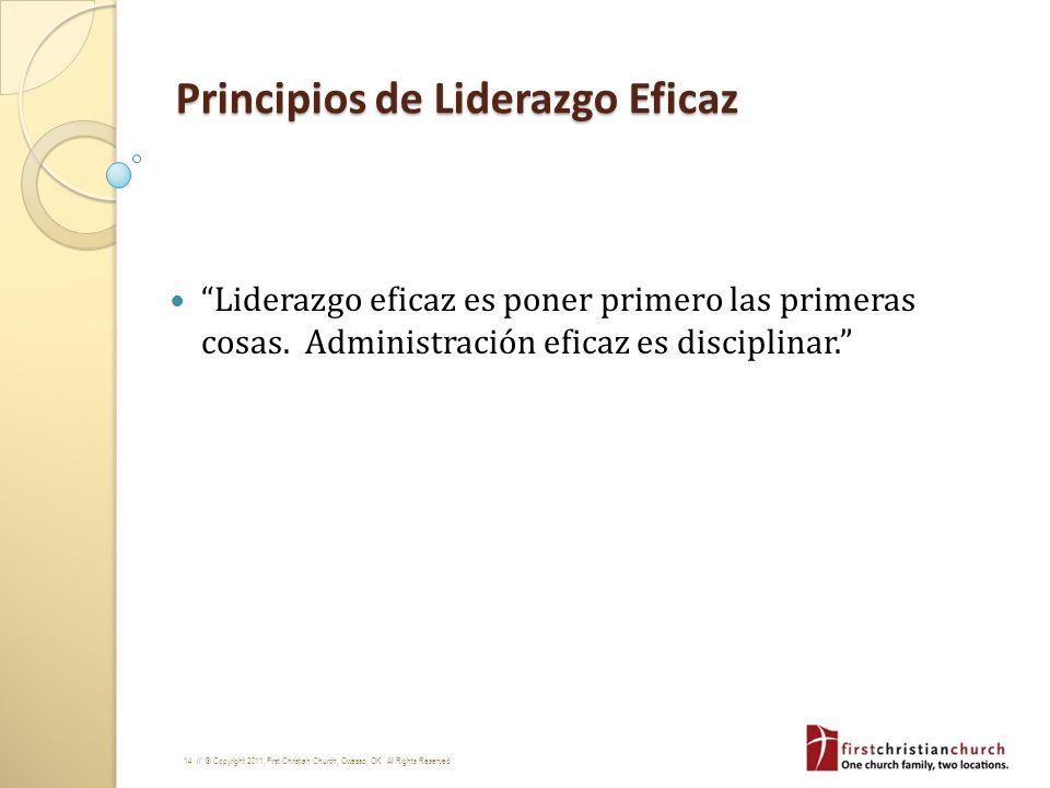 Principios de Liderazgo Eficaz
